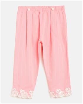 Peek a boo zoo Girl Poly cotton Trousers - Pink