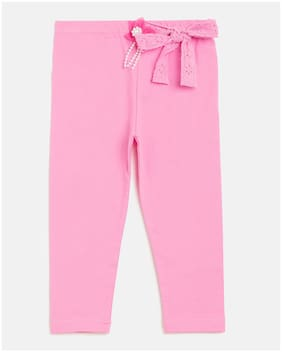 Peek a boo zoo Girl Cotton blend Trousers - Pink