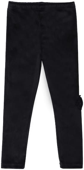 Peek a boo zoo Girl Velvet Trousers - Black
