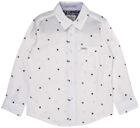 Pepe Jeans Boy Cotton Printed Shirt White