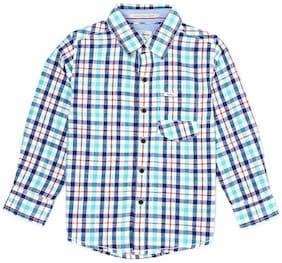 Pepe Jeans Boy Cotton Checked Shirt Blue