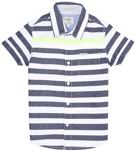 Pepe Jeans Boy Cotton Striped Shirt Multi