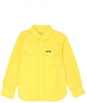 Pepe Jeans Boy Cotton Solid Shirt Yellow