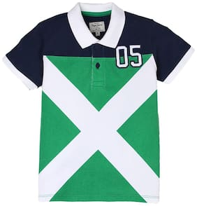 Pepe Jeans Boy Cotton Printed T-shirt - Green
