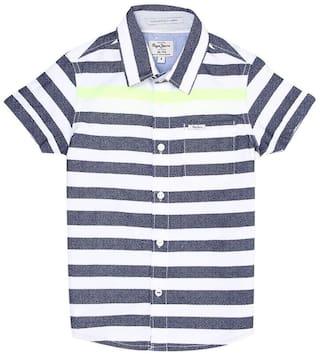 Pepe Jeans Boy Cotton Striped Shirt Multi