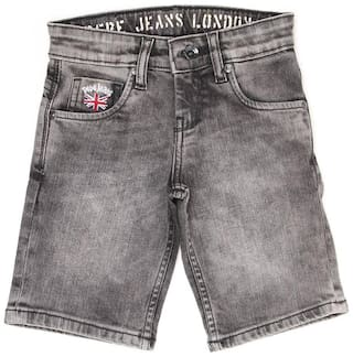 Pepe Jeans Boys Grey Solid Shorts (Grey)