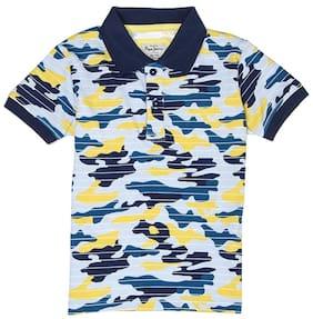 Pepe Jeans Boy Cotton Printed T-shirt - Blue
