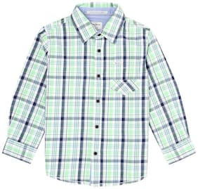 Pepe Jeans Boy Cotton Checked Shirt Green
