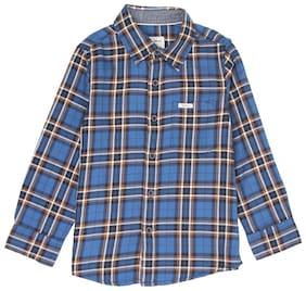 Pepe Jeans Boy Cotton blend Checked Shirt Blue