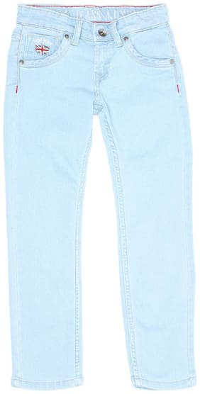 Pepe Jeans Boys Blue Solid Casual Jeans Blue