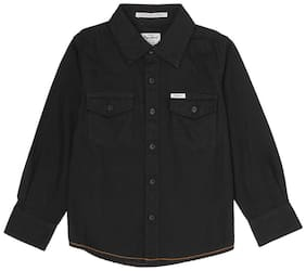 Pepe Jeans Boy Cotton Solid Shirt Black