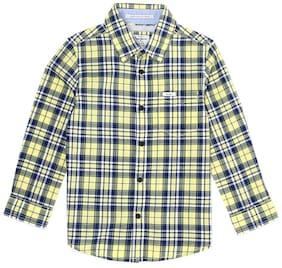 Pepe Jeans Boy Cotton Checked Shirt Yellow