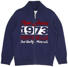 Pepe Jeans Boy Cotton Printed Sweatshirt - Blue
