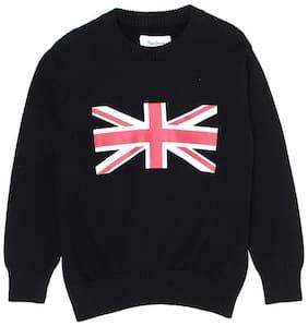 Pepe Jeans Boy Cotton blend Printed Sweater - Black