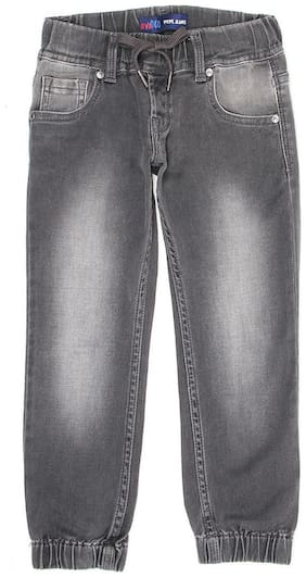 Pepe Jeans Boys Solid Grey Casual Jeans