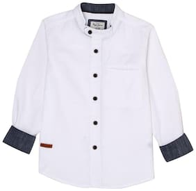 Pepe Jeans Boy Cotton Solid Shirt White
