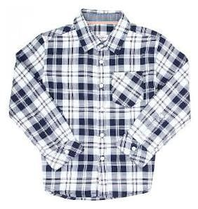Pepe Jeans Boy Cotton Checked Shirt Blue