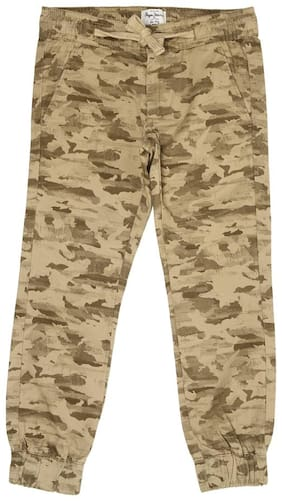 Pepe Jeans Boy Printed Trousers - Beige