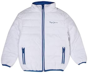 Pepe Jeans Boy Polyester Solid Winter jacket - White