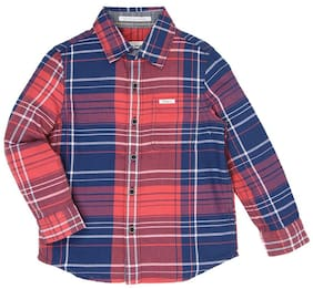 Pepe Jeans Boy Cotton Checked Shirt Red