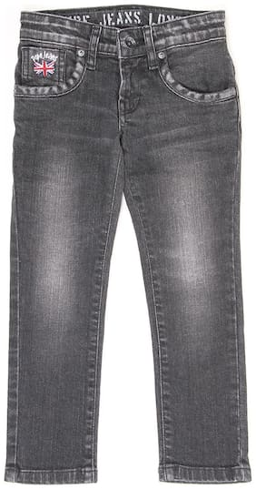 Pepe Jeans Boys Grey Solid Jeans (Grey)