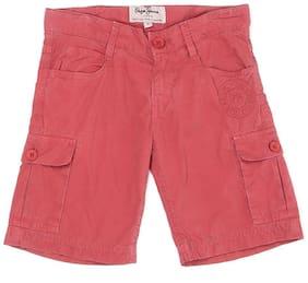Pepe Jeans Boys Casual Wear Shorts Maroon