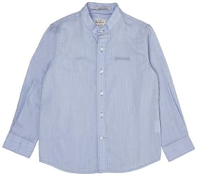 Pepe Jeans Boy Cotton Solid Shirt Blue
