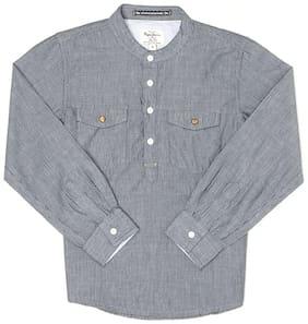 Pepe Jeans Boy Cotton Striped Shirt Grey
