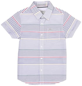 Pepe Jeans Boy Cotton Striped Shirt White