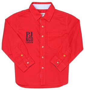 Pepe Jeans Boys Red Casual Shirt