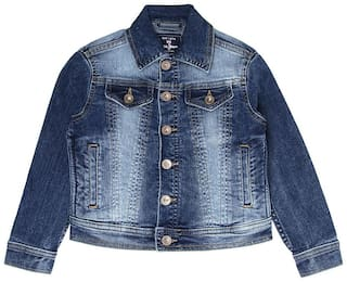 Pepe Jeans Boy Denim Solid Winter jacket - Blue