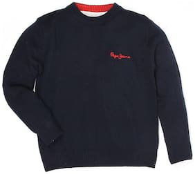 Pepe Jeans Boy Acrylic Solid Sweater - Blue