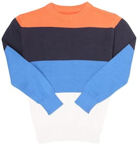 Pepe Jeans Boy Cotton Striped Sweatshirt - Blue