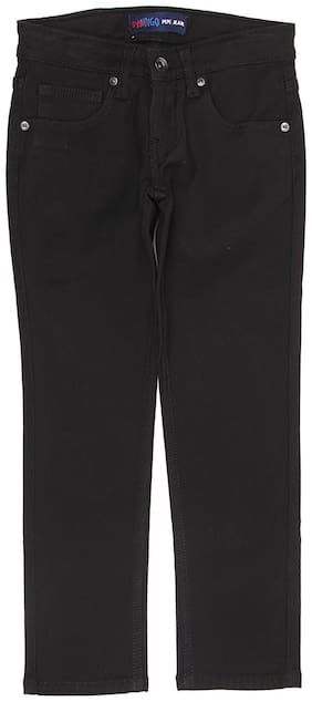 Pepe Jeans Boys Solid Black Jeans
