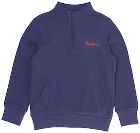 Pepe Jeans Boy Cotton Solid Sweatshirt - Blue