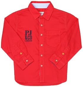 Pepe Jeans Boy Cotton Solid Shirt Red