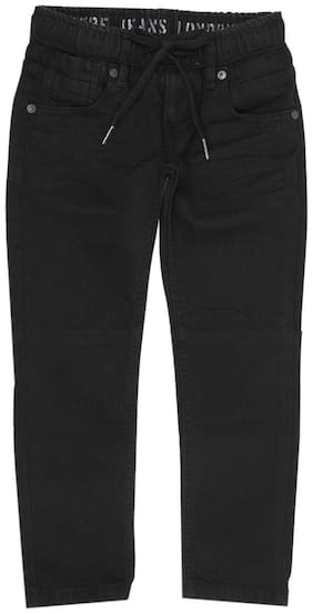 Pepe Jeans Boys Black Solid Casual Jeans
