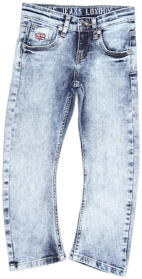 Pepe Jeans Blue Solid Clean Look Denim Boys Jeans