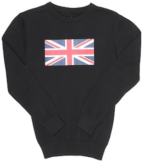 Pepe Jeans Boy Cotton Solid Sweater - Black