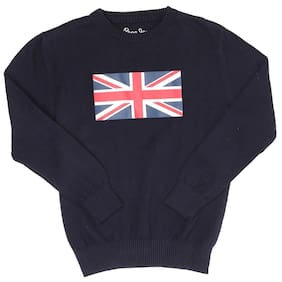 Pepe Jeans Boy Cotton Solid Sweater - Blue