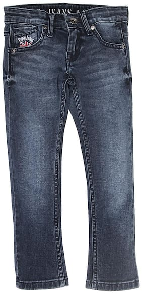 Pepe Jeans Boys Blue Solid Jean