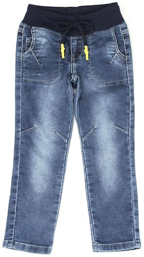 Pepe Jeans Boys Solid Blue Casual Jeans