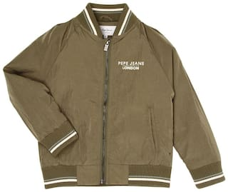 Pepe Jeans Boy Polyester Solid Winter jacket - Green