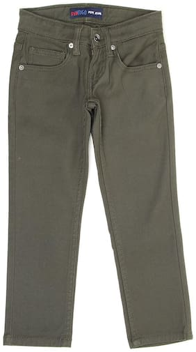 Pepe Jeans Boys Solid Green Casual Jeans