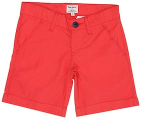Pepe Jeans Boy Solid Shorts & 3/4ths - Red