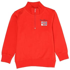 Pepe Jeans Boy Cotton blend Solid Sweatshirt - Red