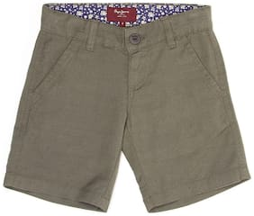 Pepe Jeans Boys Green Solid Shorts (Green)