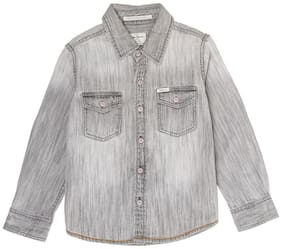 Pepe Jeans Boy Cotton Solid Shirt Grey