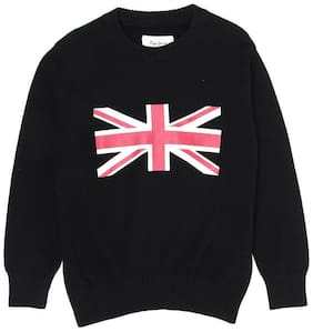 Pepe Jeans Boy Cotton blend Printed Sweater - Black