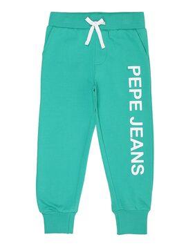 Pepe Jeans Boy Cotton Track Pants - Green